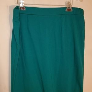 Green/Teal Plus Size Pencil Skirt